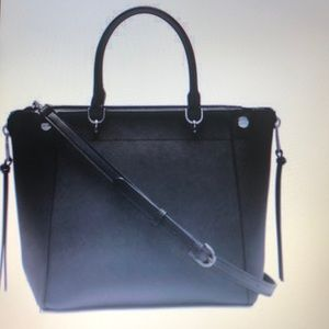 Calvin Klein Susan Leather Large Satchel Bag